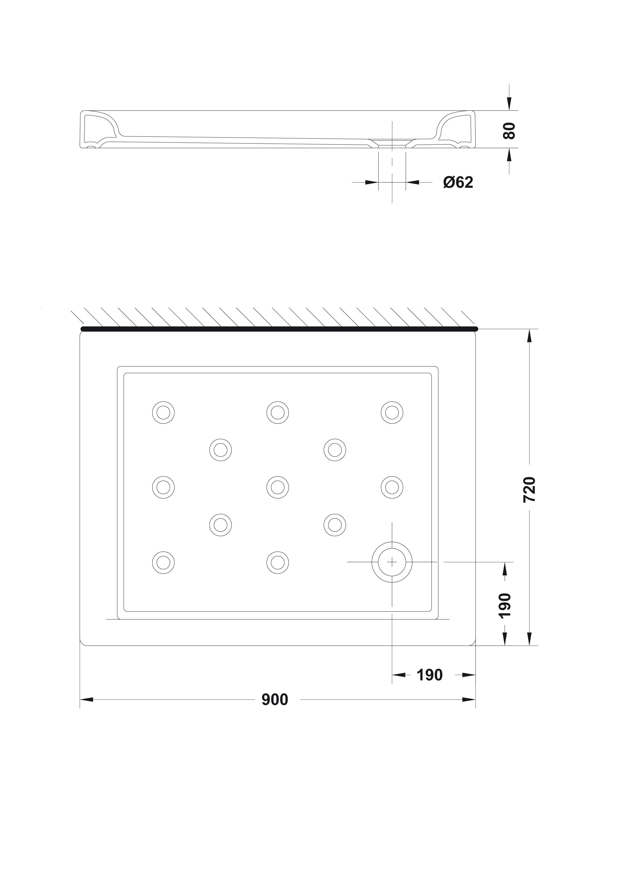 Medidas De Duchas Rectangulares.Plato De Ducha Rectangular 90x72 Gala