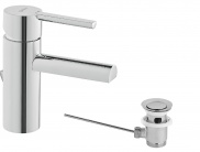 Single lever Wash-basin mixer with pop-up waste
