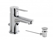 Single lever Wash-basin mixer with automatic waste