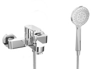 Single lever bath/shower mixer with shower set