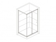 Enclosure for rectangular shower trays 110x70