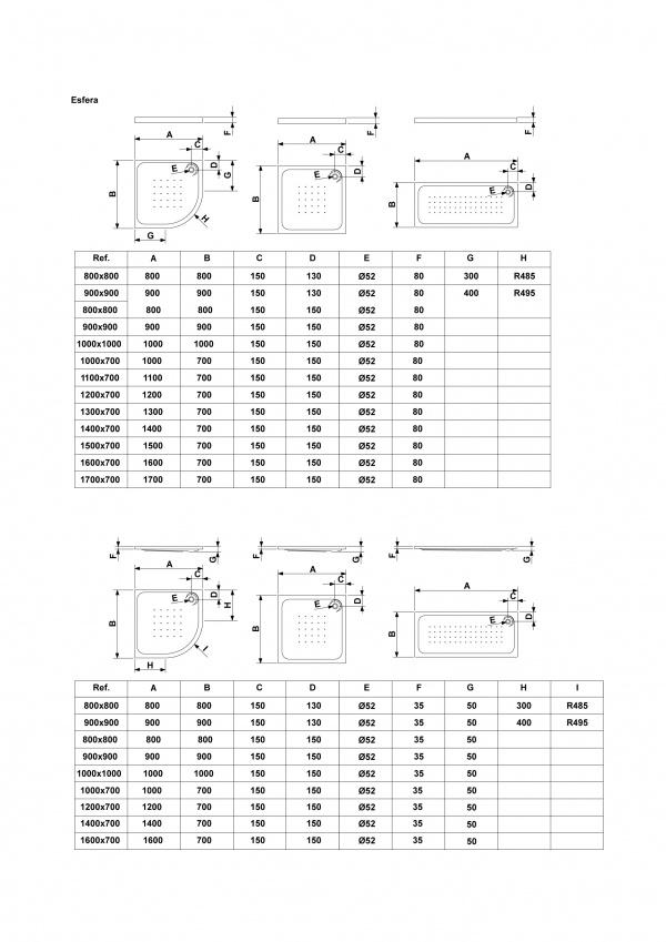 Medidas De Duchas Rectangulares.Plato De Ducha Rectangular 110x70 Gala